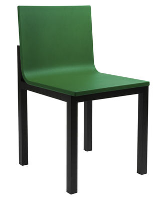 chaise rembourr e slope mousse pieds bois assise verte pieds noirs hay. Black Bedroom Furniture Sets. Home Design Ideas