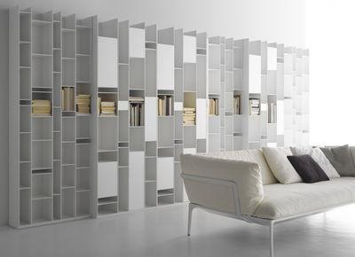 Bibliothèque Random Box Laqué blanc - MDF Italia