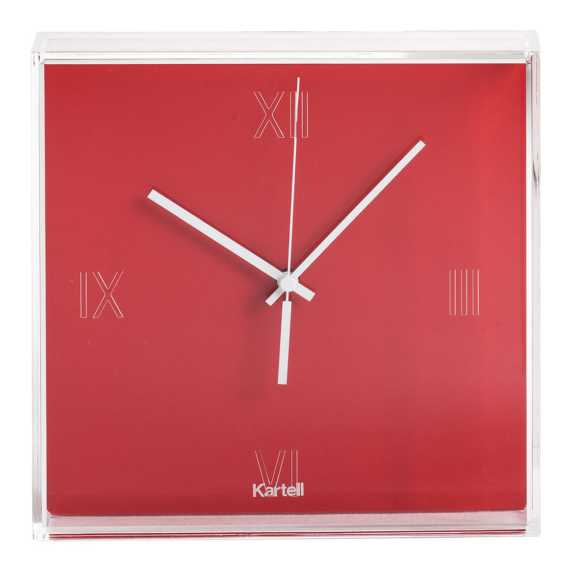 Tic & Tac Wall clock Oranged red by Kartell