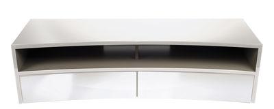 Meuble TV Valmy / Pour écran incurvé - L 150 cm - NorStone blanc en bois