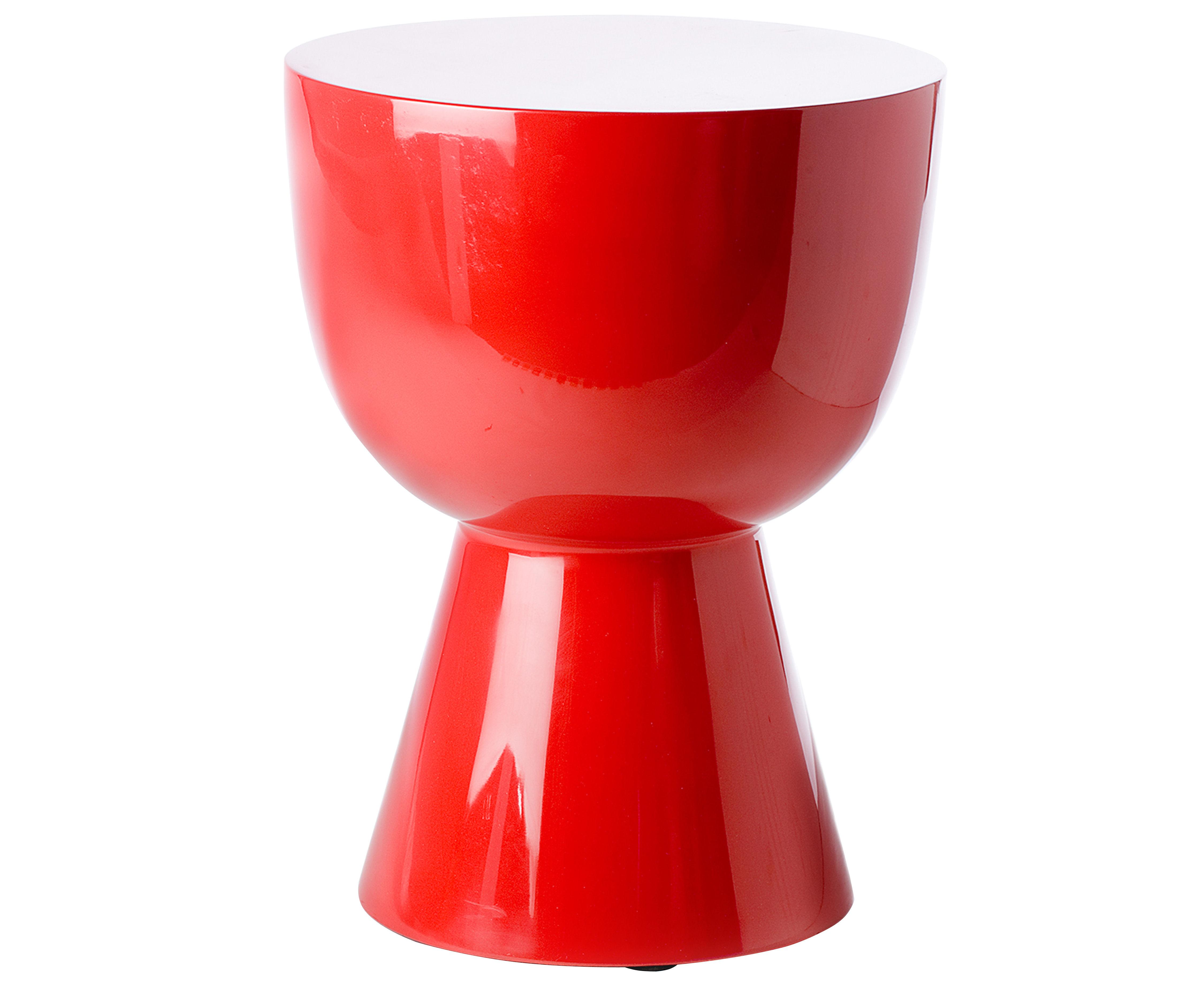 tabouret tam tam plastique rouge pols potten. Black Bedroom Furniture Sets. Home Design Ideas