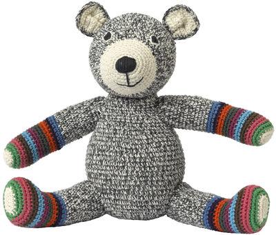 Déco - Pour les enfants - Peluche Teddy en crochet - Anne-Claire Petit - Rayures multicolores - Coton organique
