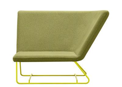 Mobilier - Fauteuils - Fauteuil rembourré Ultrasofa / L 126 cm - Fermob - Vert amande / Structure verveine - Acier, Mousse, Tissu acrylique