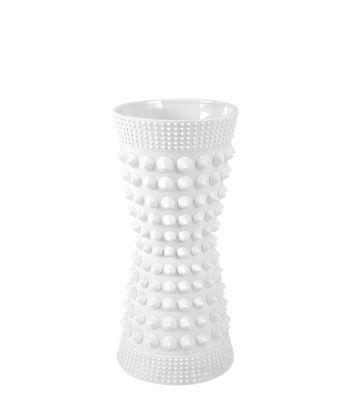 Vase Charade Studded Porcelaine H 9 cm Jonathan Adler blanc mat en céramique