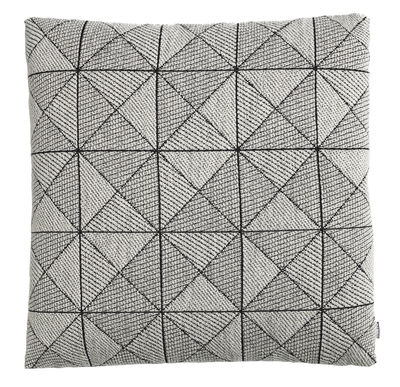 Déco - Coussins - Coussin Tile / 50 x 50 cm - Muuto - Blanc - Fibre polyester, Laine vierge, Plumes