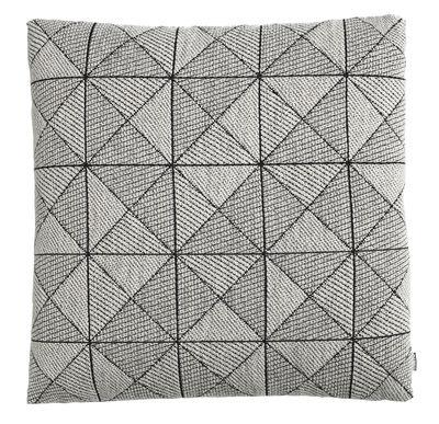 Foto Cuscino Tile / 50 x 50 cm - Muuto - Bianco,Nero - Tessuto