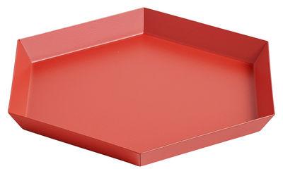 Plateau Kaleido Small / 22 x 19 cm - Hay rouge en métal
