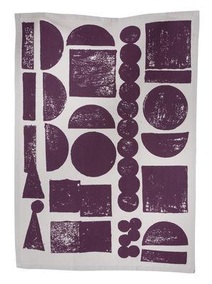 Torchon Stamp - Ferm Living aubergine en tissu