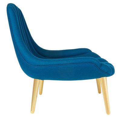 Brigitte Padded Armchair Blue Gold By Jonathan Adler