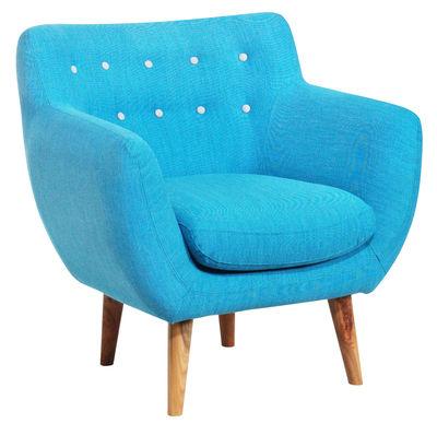 fauteuil rembourr coogee bleu hawa boutons gris perle sentou edition. Black Bedroom Furniture Sets. Home Design Ideas