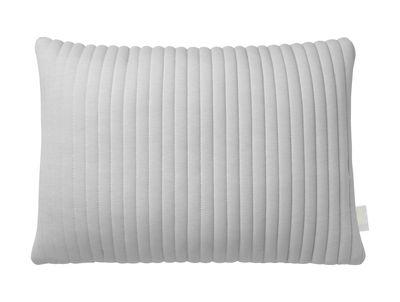 Déco - Coussins - Coussin Linear Memory / 55 x 40 cm - Mémoire de forme & tissu 3D - Nomess - Gris - Mousse à mémoire de forme, Tissu 3D