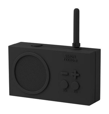Radio sans fil Tykho 2 Rechargeable USB Lexon gris foncé en matière plastique