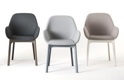 fauteuil rembourr clap tissu pieds plastique graphite. Black Bedroom Furniture Sets. Home Design Ideas