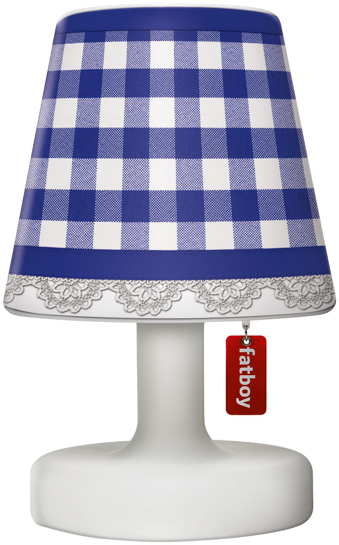 abat jour cooper cappie pour lampe edison the petit plaid bleu fatboy. Black Bedroom Furniture Sets. Home Design Ideas