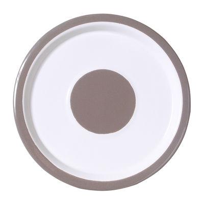 Assiette Basic Small Ø 22 cm Variopinte gris perle en métal