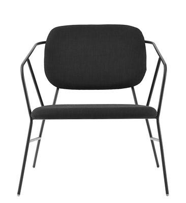 Klever Lounge Sessel / gepolstert - Stoff & Metall - House Doctor - Schwarz