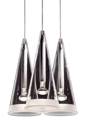Leuchten - Pendelleuchten - Fucsia 3 Pendelleuchte - Flos - Transparentes Glas - Glas