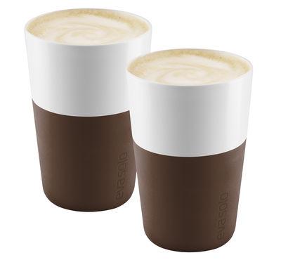 Mug Cafe Latte Set de 2 360 ml Eva Solo Marron café en Céramique