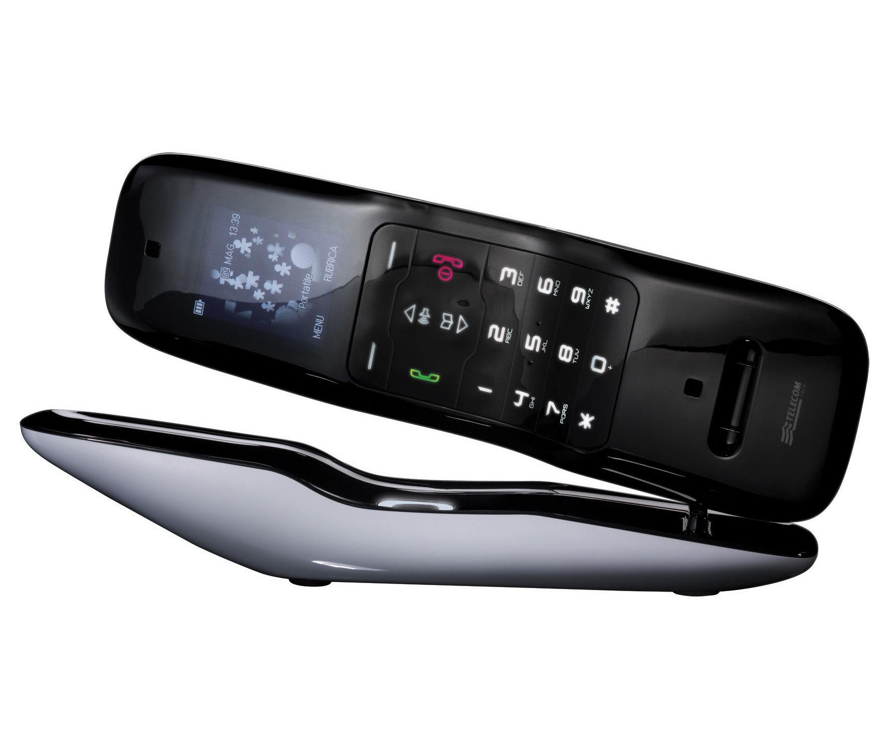 AlessiPhone Telephone Wireless Exterior  White  Interior - Designer home phones