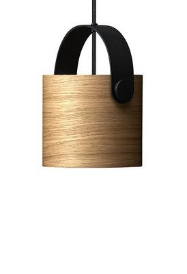 Luminaire - Suspensions - Suspension OoTW Small / Ø 16 x H 15 cm - Bois & métal - Rewired - Chêne / Noir - Métal verni, Placage de chêne