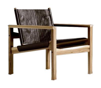 Peglev Sessel - Objekto - Dunkelbraun,Holz hell