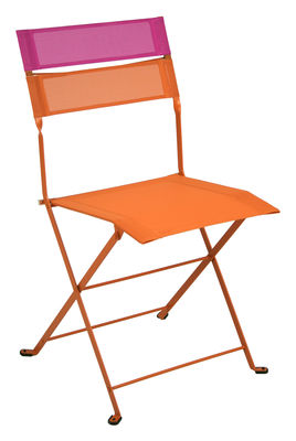 chaise pliante latitude toile carotte bandeau fuchsia fermob. Black Bedroom Furniture Sets. Home Design Ideas