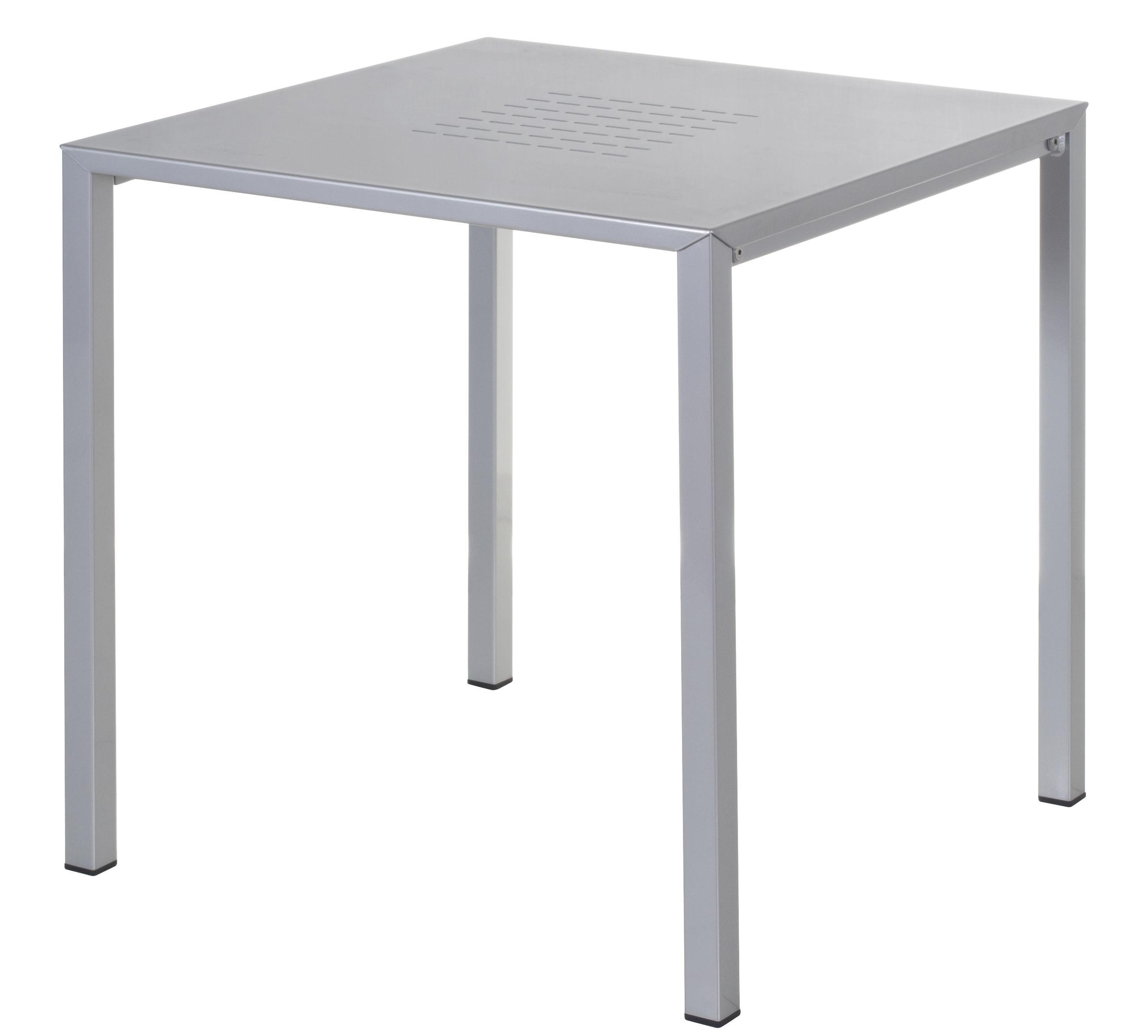 Table urban 80 x 80 cm aluminium aluminium emu for Table 80 x 80