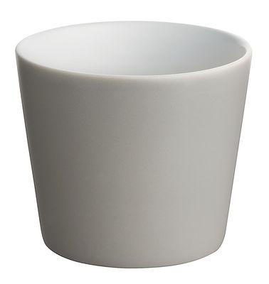 Tischkultur - Gläser - Tonale Becher - Alessi - Hellgrau / innen weiß - Keramik im Steinzeugton