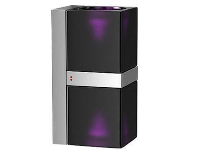 Applique Cubetto Black Glass double Fabbian noir,violet en verre