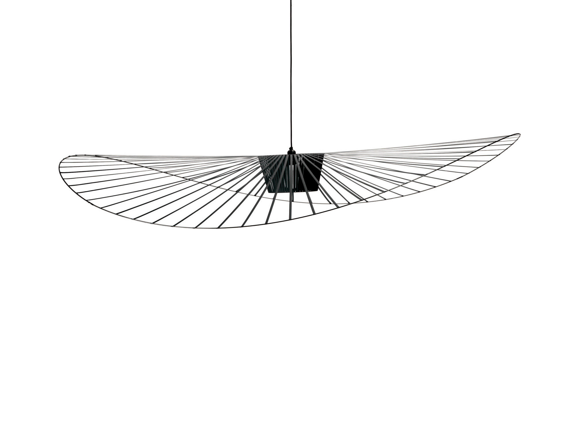 Suspension vertigo large 200 cm noir petite friture - Suspension en forme d ampoule ...