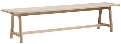 Foto Panchina Frame - / L 250 cm di Hay - Faggio naturale - Legno