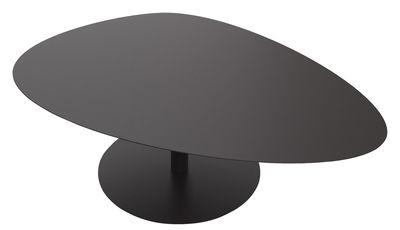 Tavolino Galet XL - / 80 x 120 - H 39,4 cm di Matière Grise - Nero - Metallo