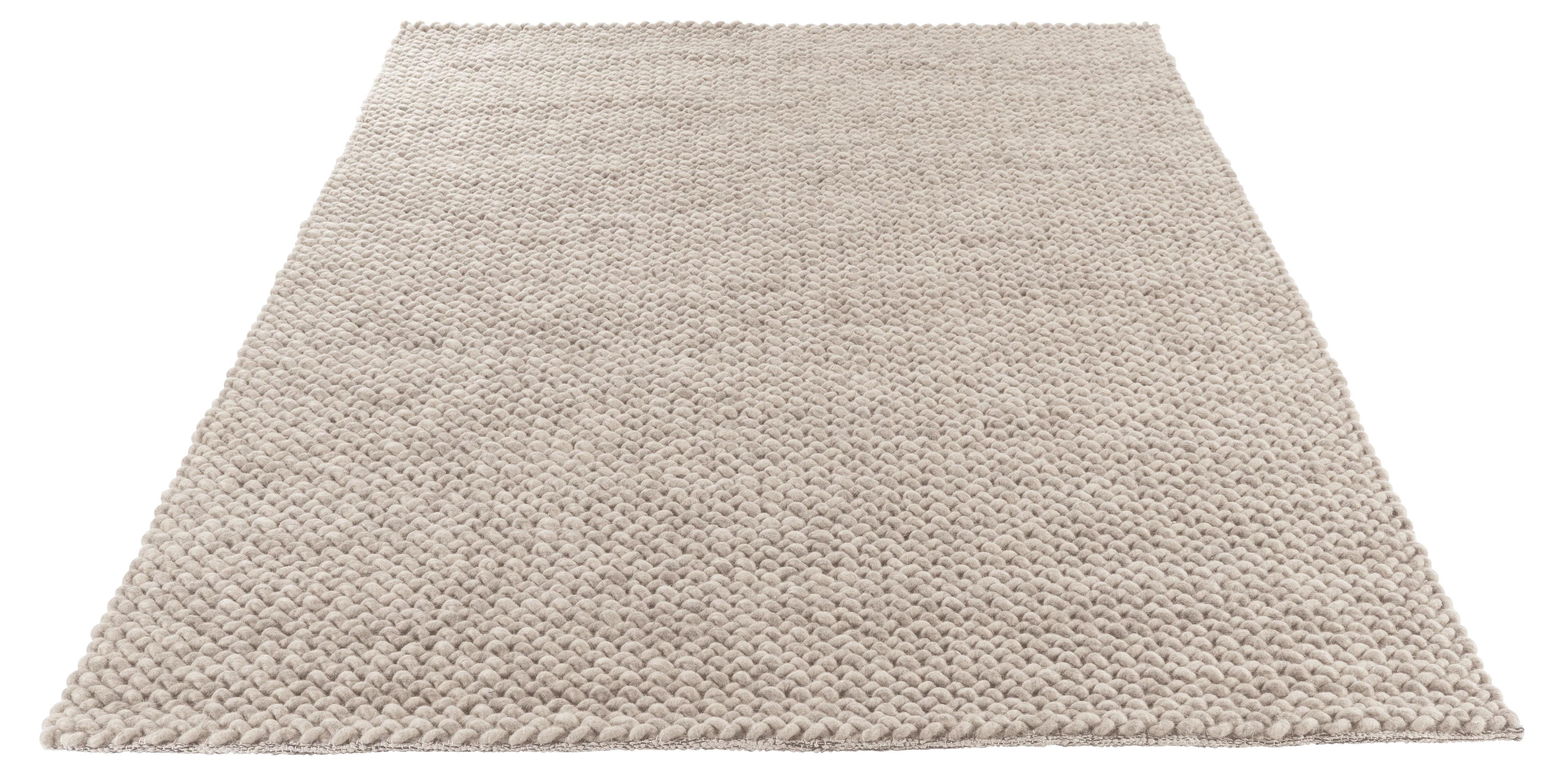 Loop tappeto 140 x 200 cm fatto a mano grigio chiaro - Tappeto grigio chiaro ...