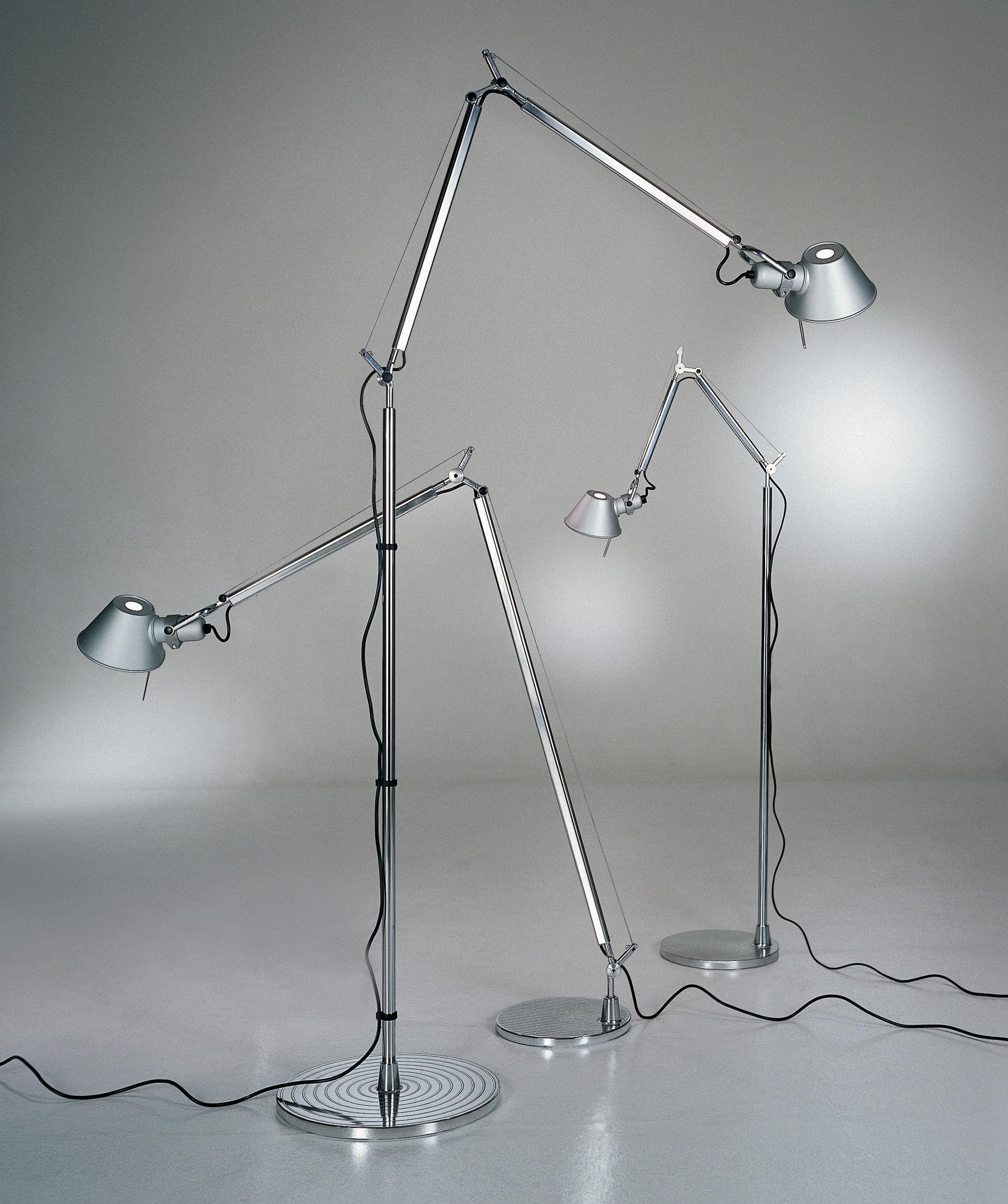 Tolomeo floor lamp aluminium by artemide aloadofball Image collections