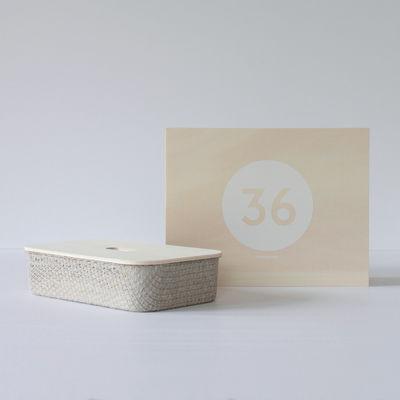 Coffret Designerbox#36 / Boite en lin Fabric - Philippe Nigro - Designerbox gris,bois naturel en tissu