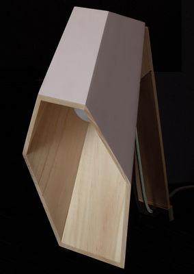 Luminaire - Lampes de table - Lampe de table Woodspot LED / H 44 cm - Seletti - Blanc - Pin