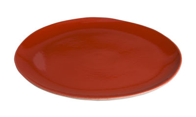 Assiette à dessert Bazelaire Ø 19cm- Faïence émaillée - Sentou Edition rouge en céramique
