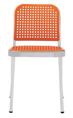 Furniture - Chairs - Silver Chair - Aluminium & plastic by De Padova - Shining alu/ Orange - Polished aluminium, Polypropylene