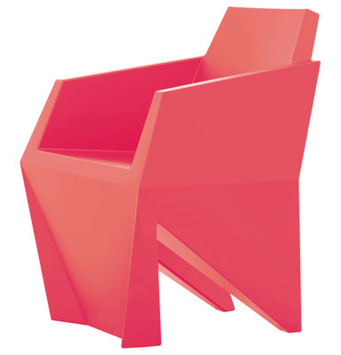 Chaise Gemma - B-LINE corail en matière plastique