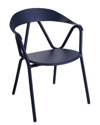 Reef Stapelbarer Sessel / Metall - Emu - Blau