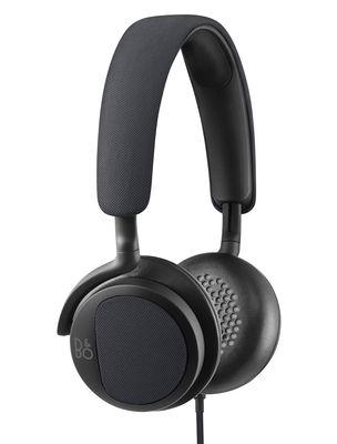 Casque audio BeoPlay H2 Tissu cuir B O PLAY by Bang Olufsen noir bleu en cuir
