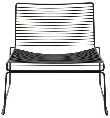Furniture - Armchairs - Hee Low armchair by Hay - Black - Lacquered steel