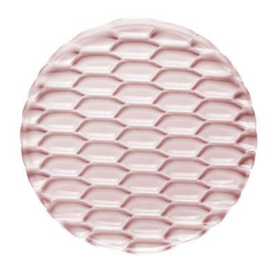 Plat de service Jellies Family / Ø 33 cm - Kartell rose en matière plastique
