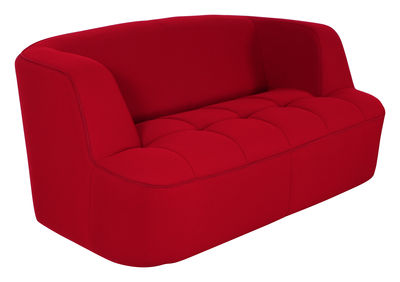 Canap droit chesty by ora ito 2 places l 161 cm rouge for Canape dunlopillo ora ito