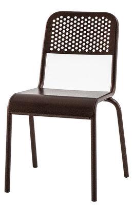 Mobilier - Chaises, fauteuils de salle à manger - Chaise Nizza - Diesel with Moroso - Cuivre patiné - Aluminium verni finition cuivre