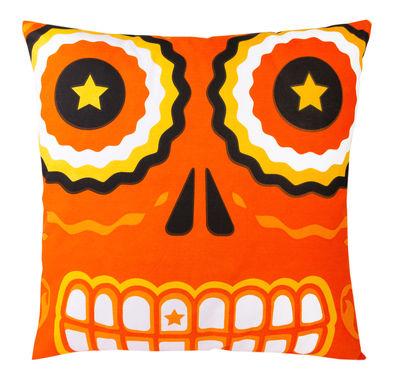 Coussin Tetmex / 50 x 50 cm - Gangzaï design orange en tissu