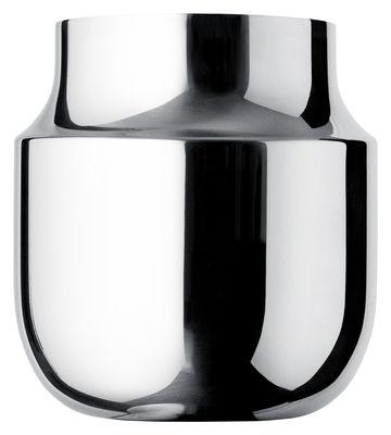 Déco - Vases - Vase Tactiles / Large - Ø 17 x H 18 cm - Menu - Large / Acier poli - Acier poli miroir
