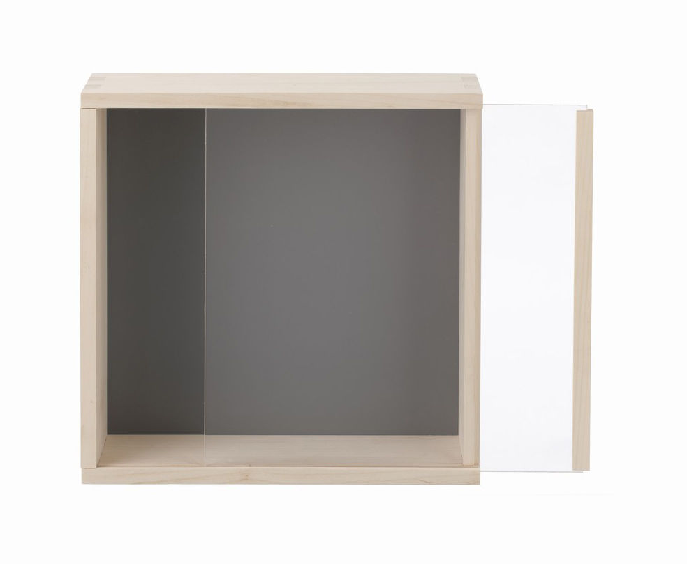 display box regal vitrine 30 x 30 cm grau by ferm. Black Bedroom Furniture Sets. Home Design Ideas