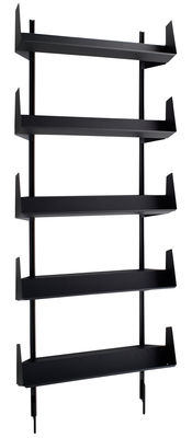 Furniture - Shelves & bookcases - Sarmiento Bookcase by Danese - Dark grey - Varnished metal