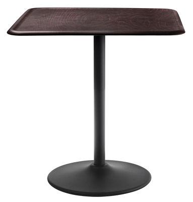 tavolo da giardino Pipe - 71 x 71 cm di Magis - Nero,Faggio scuro - Metallo